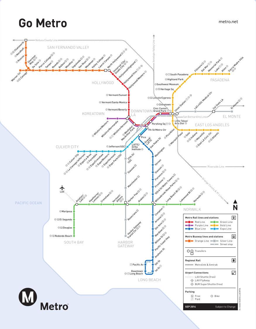 La Metro Map 2018.Los Angeles Metro Map Triplinks